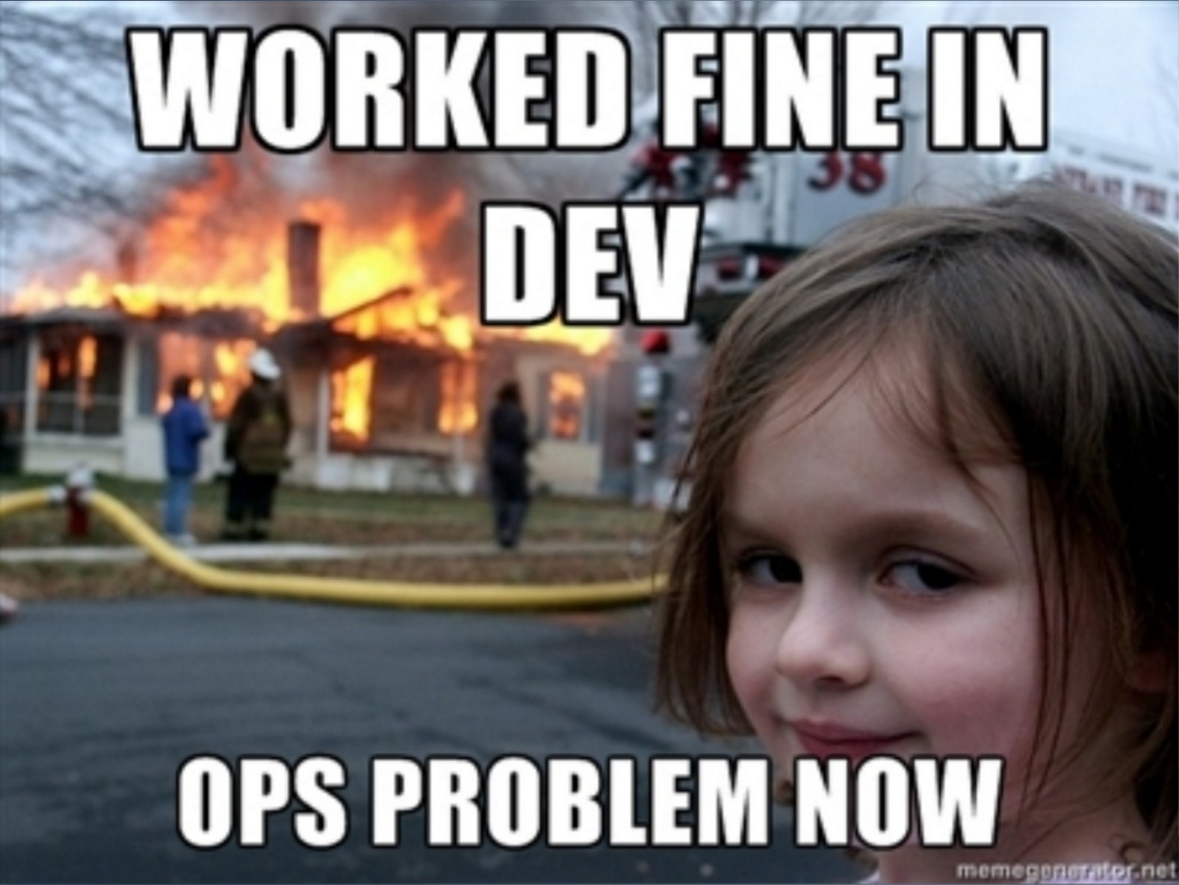Worked in Dev / Ops problem now