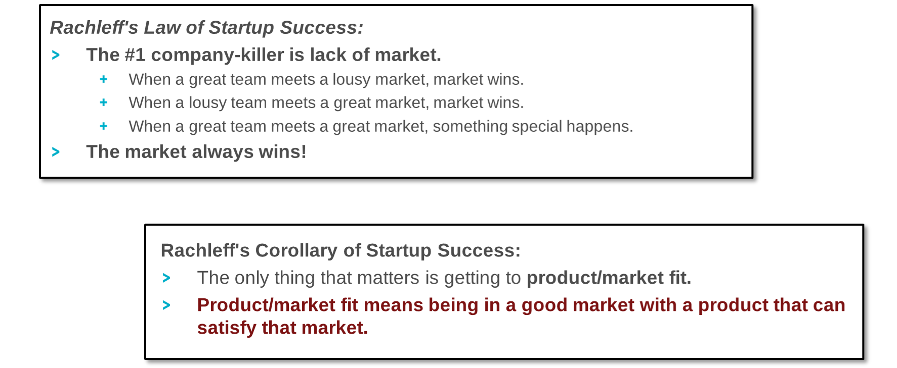 Rachleff's laws of Startup