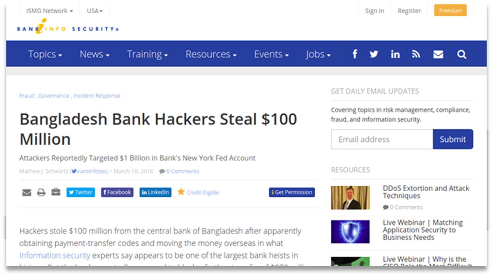 The Bangladesh Bank heist - initial